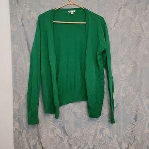 St. John's Bay Green Button Sweater